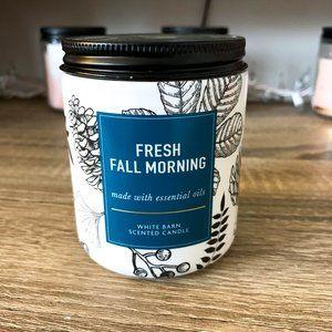 BBW Single Wick Candle Fresh Fall Morning 7 oz